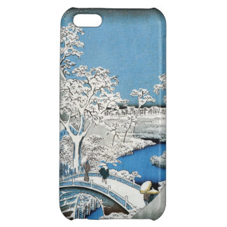 Pretty Vintage Asian Winter Scene Snow Bridge iPhone 5C Cover