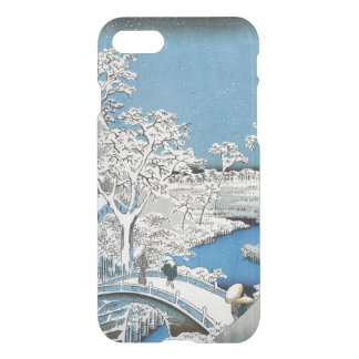 Pretty Vintage Asian Winter Scene Snow Bridge iPhone 8/7 Case