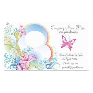 pretty vintage butterfly business cards