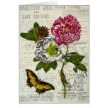 Pretty Vintage Collage Greeting Card