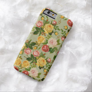 Pretty Vintage Country Floral Girly Rose Pattern Barely There iPhone 6 Case