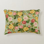 Pretty Vintage Country Floral Girly Rose Pattern Decorative Pillow