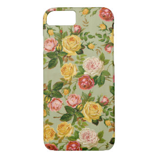 Pretty Vintage Country Floral Girly Rose Pattern iPhone 7 Case
