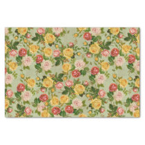 Pretty Vintage Country Floral Girly Rose Pattern Tissue Paper