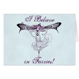 Pretty Vintage Fairy Decal Card
