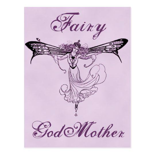Pretty Vintage Fairy Decal Postcard
