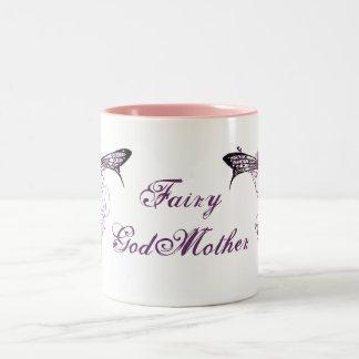 Pretty Vintage Fairy Decal Two-Tone Coffee Mug