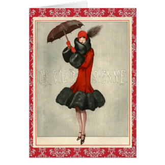Pretty Vintage Fashion/Flapper Greeting Card
