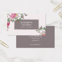 Pretty vintage Floral business card