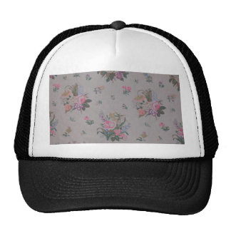 Pretty Vintage Floral Mesh Hat