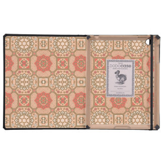 Pretty Vintage Floral in Melon Case For iPad
