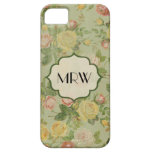 Pretty Vintage Floral Monogrammed Flower Pattern Cover For iPhone 5/5S