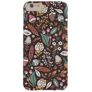 Pretty Vintage Floral Pattern Barely There iPhone 6 Plus Case
