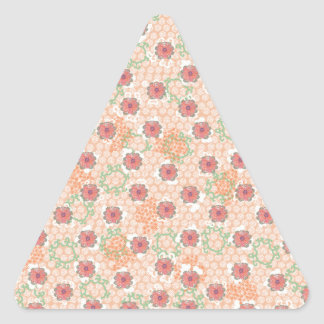 Pretty Vintage Floral Triangle Sticker