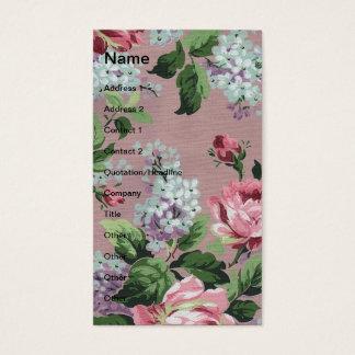 Pretty Vintage Floral Wallpaper Business Card