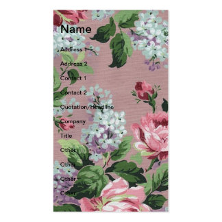 Pretty Vintage Floral Wallpaper Double-Sided Standard Business Cards (Pack Of 100)
