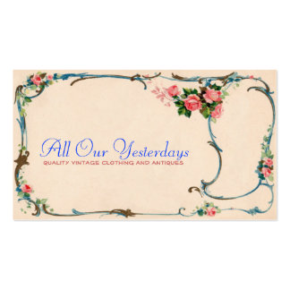 pretty vintage flowers business card