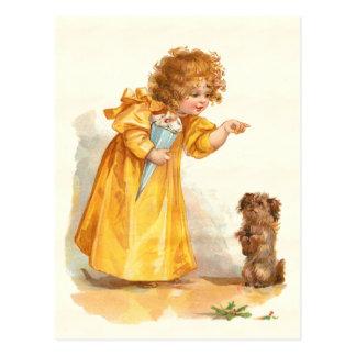 Pretty Vintage Frances Brundage Little Goldilocks Postcard