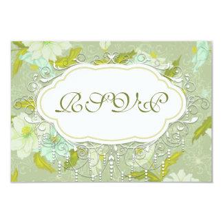 Pretty Vintage Gardenia Flower Wedding RSVP Cards
