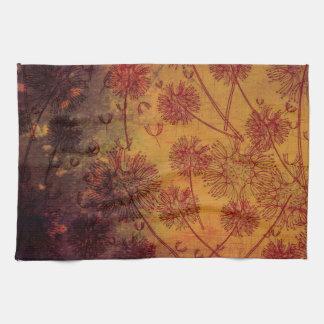 Pretty Vintage Grunge Dandelion Seeds Wallpaper Kitchen Towels