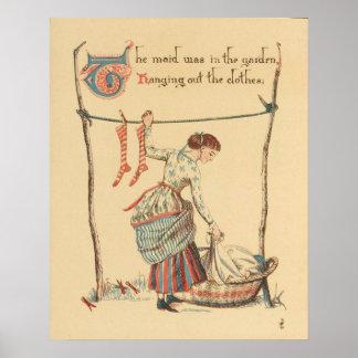 Pretty Vintage Lady Poster