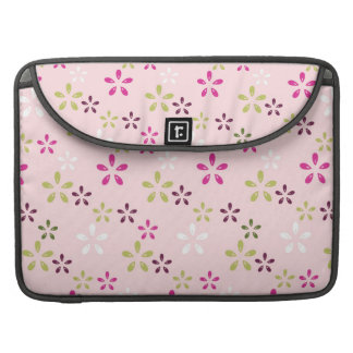 Pretty Vintage Pastel Pink and Purple Floral Print Sleeve For MacBooks