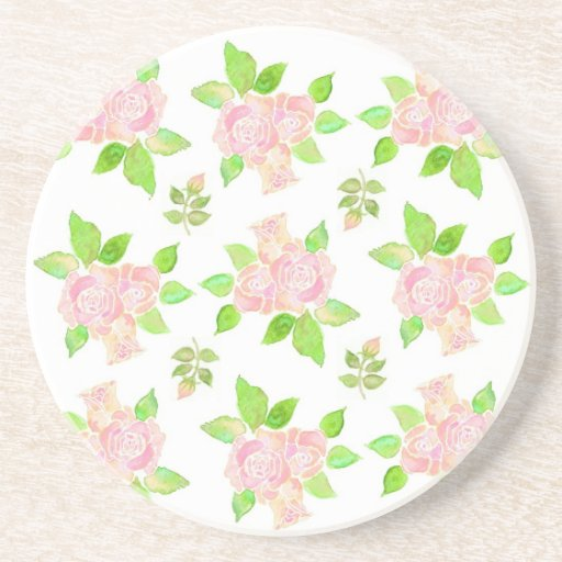 Pretty Vintage Pink Roses Coaster Or Drinks Mat Zazzle