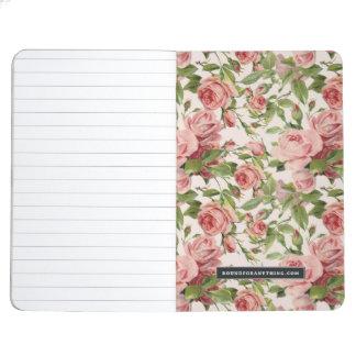Pretty Vintage Pink Roses Journal