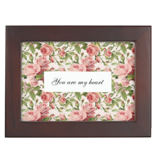 Pretty Vintage Pink Roses Memory Boxes
