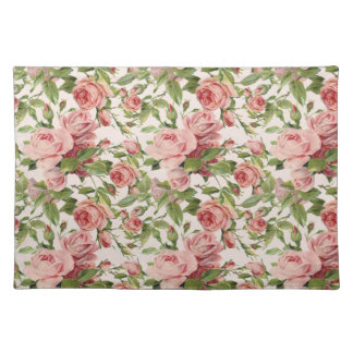Pretty Vintage Pink Roses Placemat