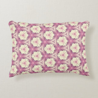 Pretty Vintage Rose Victorian Era Pattern Accent Pillow
