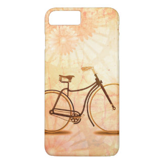 Pretty Vintage Sepia Bicycle Peach Floral iPhone 8 Plus/7 Plus Case