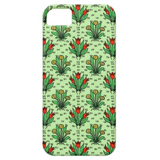 Pretty Vintage Spring Flowers Drawing Pattern iPhone SE/5/5s Case