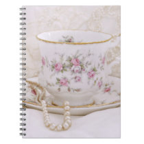 Pretty Vintage Tea Cup Notebook