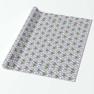 Pretty Violets Wrapping Paper to Customize