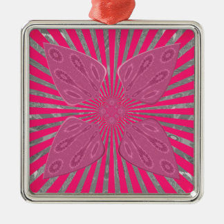 Pretty Vivid Pink Beautiful amazing edgy cool art Metal Ornament