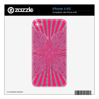 Pretty Vivid Pink Beautiful amazing edgy cool art Skins For The iPhone 4