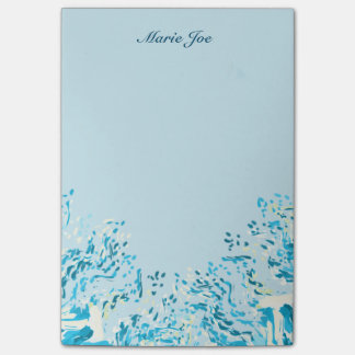 Pretty Watercolor Confetti Splatter Boarder Post-it Notes