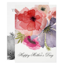 Pretty Watercolor Florals Mothers Day Card