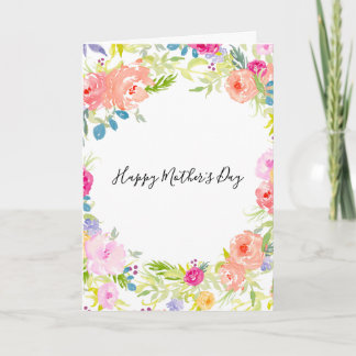 Pretty Watercolor Flowers Card