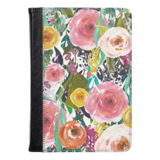 Pretty Watercolor Flowers Kindle Case