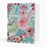 Pretty Watercolor Hand Paint Floral Artwork Mini Binder at Zazzle