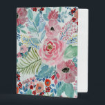 """Pretty watercolor hand paint floral artwork mini binder<br><div class=""""desc"""">Pretty watercolor hand paint floral artwork. This elegant, boho chic, romantic watercolor paint, messy, stained, vibrant colorful blossom garden flowers, is perfect for everyday wear, special occasions, or celebrations. blue, teal, aqua green, hot pink, blush, peach pink, yellow, coral, red, white colors. Sweet, beautiful, beauty, art, artistic stylish, whimsical, dreamy,...</div>"""