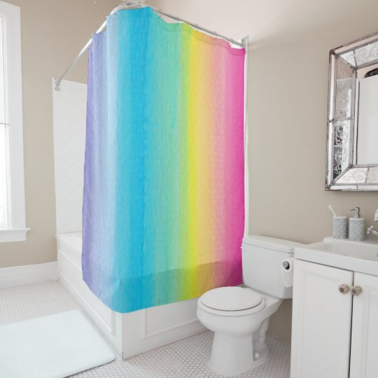 Pretty Watercolor Rainbow Shower Curtain on painted bathtub, painted patio designs, painted chairs designs, painted floor designs, painted table designs, painted furniture designs, painted photography, painted boat designs, painted closets, painted door designs, painted carpet designs, painted glass designs, painted room designs, painted porch designs, painted christmas designs, painted fireplace designs, painted bedroom, painted window designs, painted cabinet designs, painted car designs,