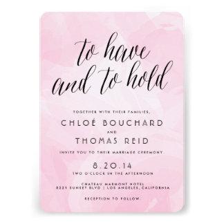 Pretty Watercolor Script Wedding Invitations Personalized Invite