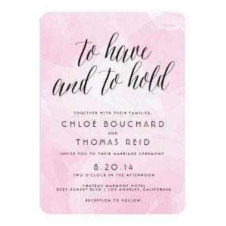 Pretty Watercolor Script Wedding Invitations