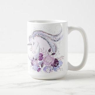 Pretty Watercolor Unicorn Duo 1 Coffee Mug