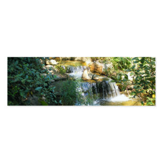 Pretty Waterfall Bookmark Business Card Templates