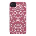 pretty watermelon pink vintage art nouveau pattern iPhone 4 cover