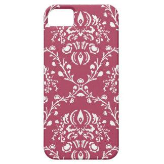 pretty watermelon pink vintage art nouveau pattern iPhone SE/5/5s case